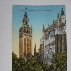 Postales: TARJETA POSTAL SEVILLA - LA GIRALDA Y PATIO DE LOS NARANJOS - C.R.S. Lote 189807047