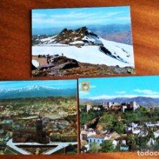Postales: SIERRA NEVADA. GRANADA.3 POSTALES. SIN CIRCULAR.. Lote 190529846