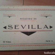 Postales: RECUERDO DE SEVILLA : 10 VISTAS SERIE A / M. ARRIBAS. Lote 191054038