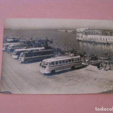 Cartoline: ALGECIRAS. PUERTO PESQUERO Y PARADA DE AUTOBUSES. ED. ARRIBAS.. Lote 191498203