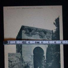 Postales: GRANADA ALHAMBRA-PUERTA DE JUSTICIA-N°2,FOTO LAURENT,MADRID. Lote 193640185