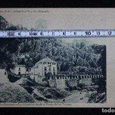 Postales: GRANADA-LA ALHAMBRA DESDE EL PASEO DE LOS TRISTES-N° 56,A.LINARES. Lote 193640710