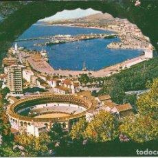 Postales: [POSTAL] PLAZA DE TOROS Y PUERTO. MÁLAGA (SIN CIRCULAR). Lote 193735207