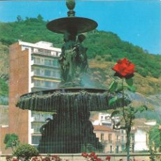 Postales: [POSTAL] FUENTE DEL PARQUE. AL FONDO, GIBRALFARO. MÁLAGA (SIN CIRCULAR). Lote 193822092
