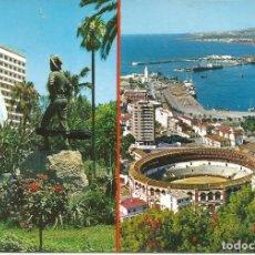 Postales: [POSTAL] DIVERSAS VISTAS: PLAZA DE TOROS Y 'CENACHERO'. MÁLAGA (SIN CIRCULAR). Lote 193871186