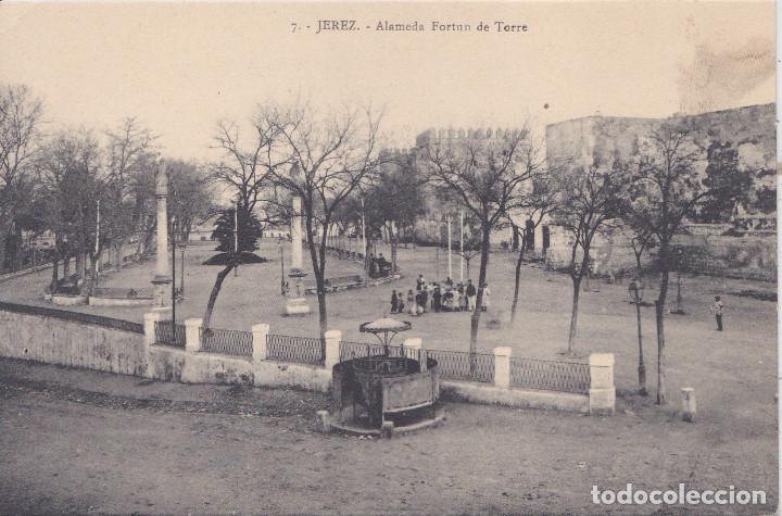 JEREZ (CADIZ) - ALAMEDA FORTUN DE TORRE (Postales - España - Andalucía Antigua (hasta 1939))