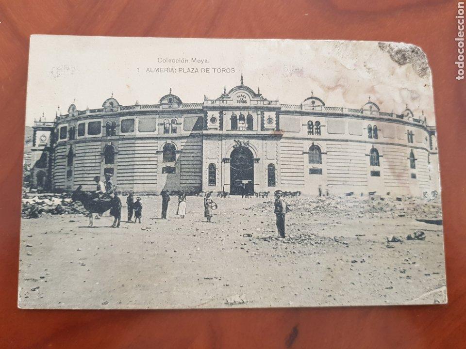 ANTIGUA POSTAL PLAZA DE TOROS ALMERIA COLECCION MOYA (Postales - España - Andalucía Antigua (hasta 1939))