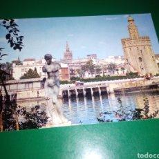Postales: ANTIGUA POSTAL DE SEVILLA. TORRE DEL ORO. AÑOS 60. Lote 194233086