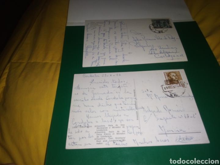 Postales: Dos antiguas postales de Granada. Alhambra y Puerta de la Justicia. Años 60 - Foto 2 - 194235882
