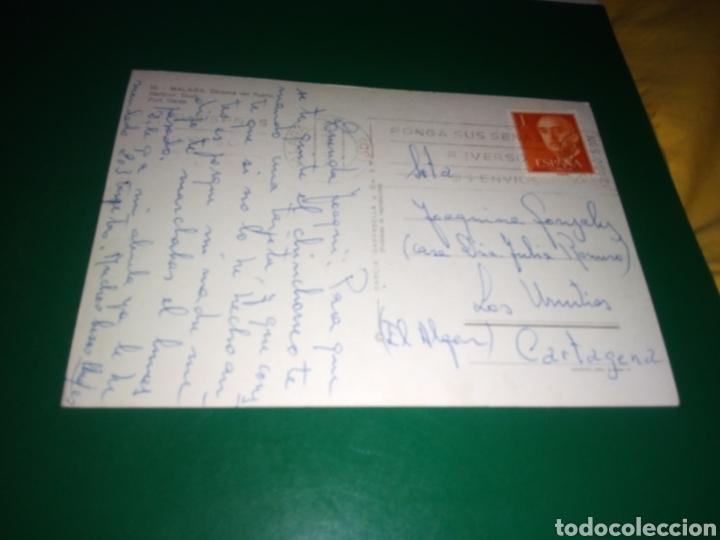 Postales: Antigua postal de Málaga. Dársena del Puerto. Años 60 - Foto 2 - 194236333