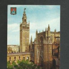 Postales: POSTAL SIN CIRCULAR - SEVILLA 60 - LA CATEDRAL Y LA GIRALDA - EDITA ESCUDO DE ORO. Lote 194263167