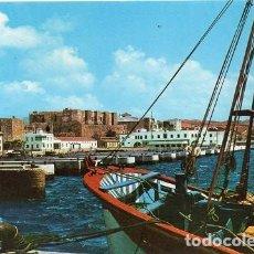 Postales: TARIFA - 14 PUERTO PESQUERO Y CASTILLO DE GUZMÁN EL BUENO. Lote 194271433