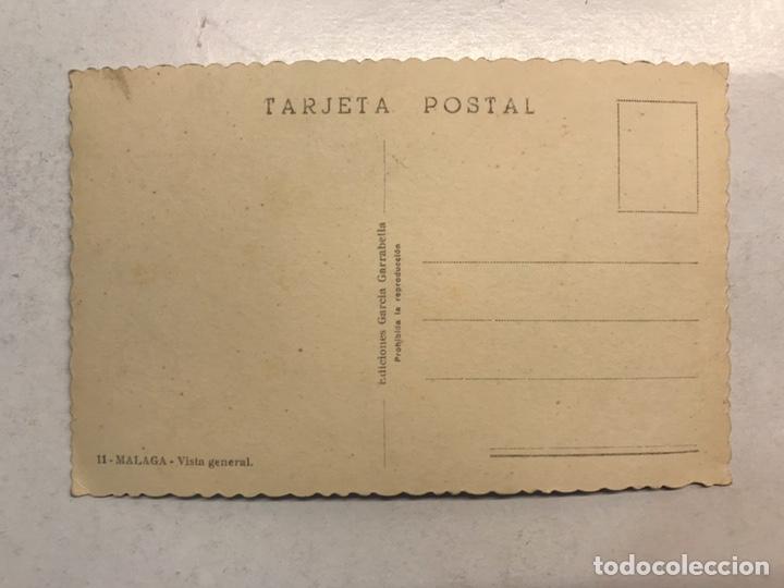 Postales: MALAGA. Postal Fotografíca No.11 Vista General. Edita: Garcia Garrabella (h.1950?) S/C. - Foto 2 - 194307908