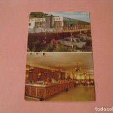 Postales: POSTAL DE RESTAURANTE LOS CORDOBESES. CUESTA DE LA PALMA. LOJA (GRANADA). CORTADA POR LA MITAD.. Lote 194335414