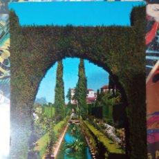 Postales: POSTAL DE GRANADA. JARDINES BAJOS DEL GENERALIFE.. Lote 194490696