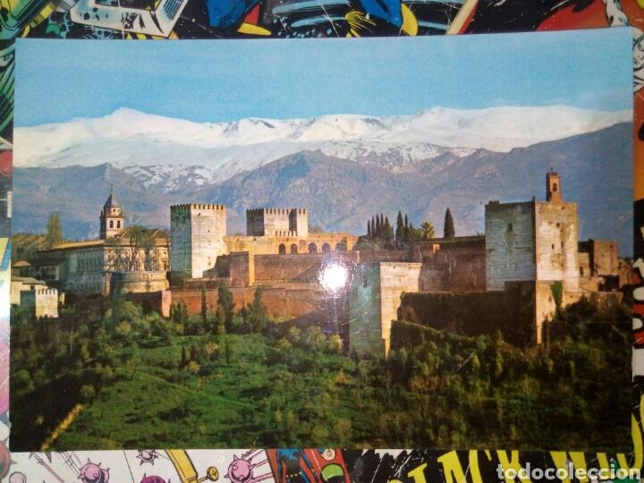 POSTAL DE GRANADA. VISTA DE LA ALHAMBRA Y SIERRA NEVADA. (Postales - España - Andalucia Moderna (desde 1.940))