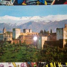Postales: POSTAL DE GRANADA. VISTA DE LA ALHAMBRA Y SIERRA NEVADA.. Lote 194490976