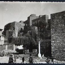 Postales: MALAGA, LA ALCAZABA, POSTAL CIRCULADA CON SELLO DE LOS AÑOS 50. Lote 194491220