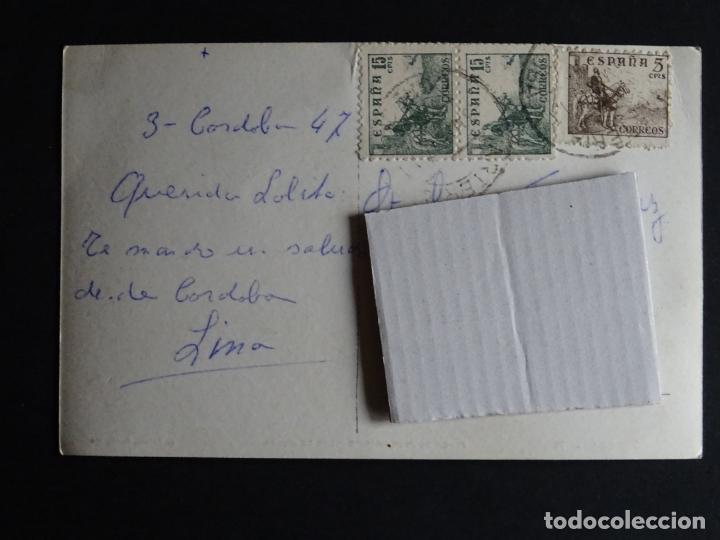Postales: Cordoba, antigua plaza de Las Tendillas, postal circulada del año 1947 - Foto 2 - 194494222