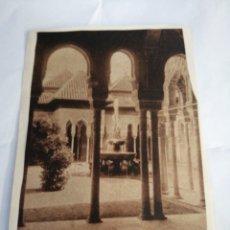 Postales: EL PATIO LLAMADO DE LOS LEONES. CIRCA 1890. GRANADA.. Lote 194505333