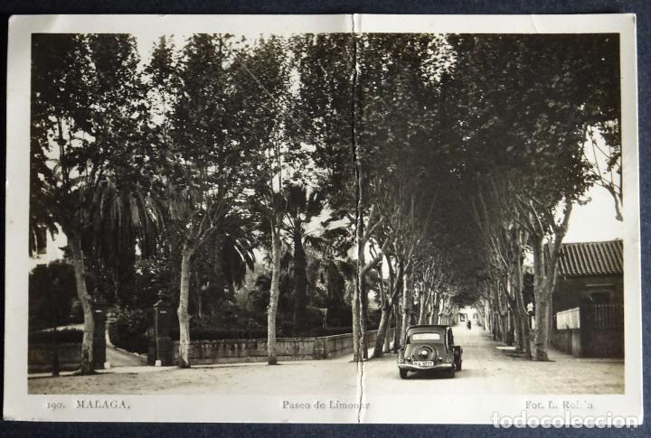 MALAGA, PASEO DE LIMONAR, POSTAL CIRCULADA CON SELLOS DEL AÑO 1943, VER COMENTARIOS (Postales - España - Andalucia Moderna (desde 1.940))