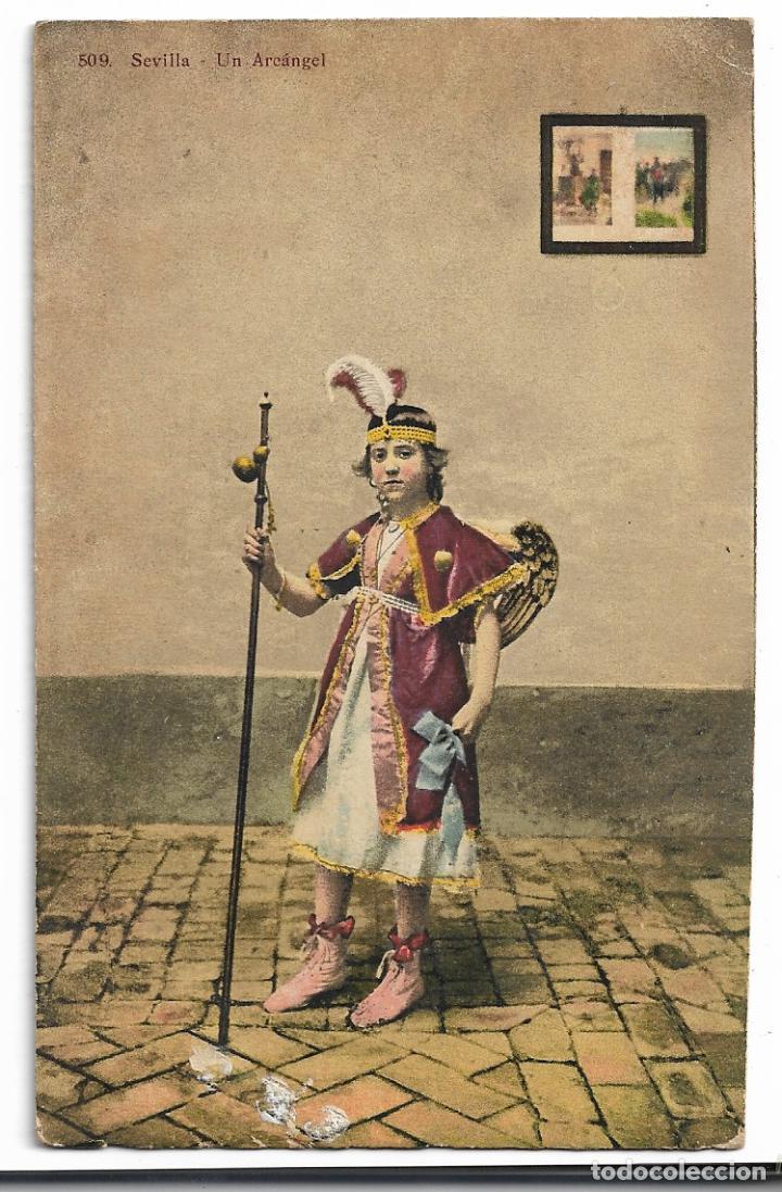 SEVILLA - SEMANA SANTA - UN ARCÁNGEL - P27142 (Postales - España - Andalucía Antigua (hasta 1939))