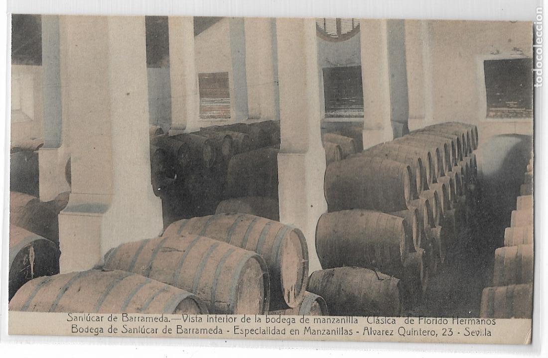 SANLÚCAR DE BARRAMEDA - BODEGA DE MANZANILLA CLÁSICA DE FLORIDO HERMANOS - P27142 (Postales - España - Andalucía Antigua (hasta 1939))