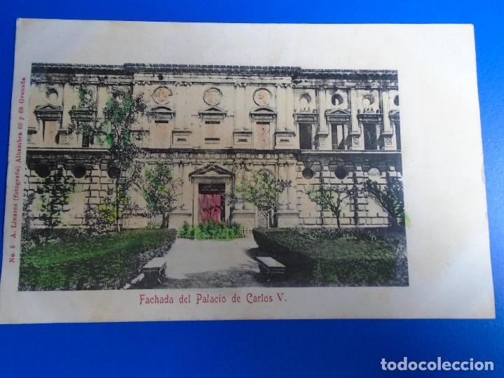 FACHADA DEL PALACIO DE CARLOS V FOTOGRAFO A. LINARES Nº 5 (Postales - España - Andalucía Antigua (hasta 1939))