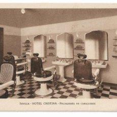 Postales: SEVILLA - HOTEL CRISTINA - PELUQUERÍA DE CABLLEROS - P27142. Lote 194540957