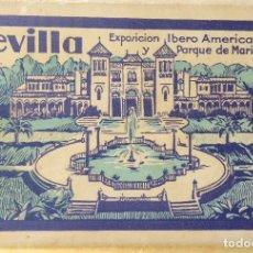 Postales: P-10056.SEVILLA, EXPOSICIÓN IBERO AMERICANA. 20 POSTALES COLOREADAS. L. ROISIN. SERIE III. AÑO 192. Lote 194551127