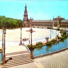 Postales: SEVILLA. 137 PLAZA DE ESPAÑA. ED. RO-FOTO. NUEVA. COLOR. Lote 194553668