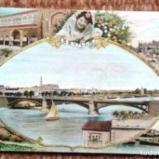 Postales: SEVILLA - VISTAS - RELIEVE EN DORADO.- C.R.S 107. . Lote 194572200