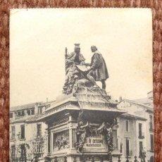 Postales: GRANADA - MONUMENTO A CRISTOBAL COLON. Lote 194573828