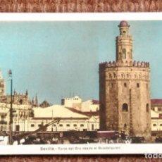 Postales: SEVILLA - TORRE DEL ORO DESDE EL GUADALQUIVIR. Lote 194576021