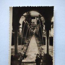 Postales: POSTAL -- GRANADA - GENERALIFE - PATIO DE LA ACEQUIA Y PORTICO SUR --. Lote 194621421