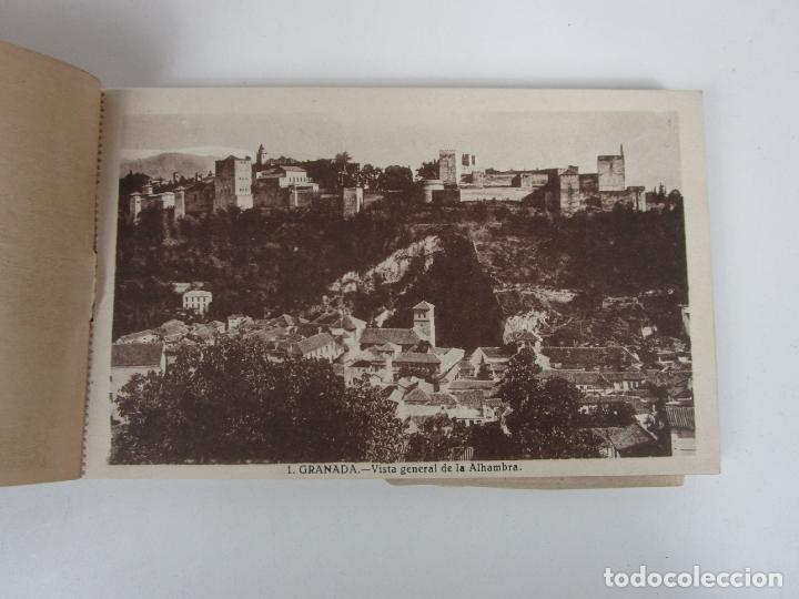 Postales: Álbum Postal - Granada, Serie 1ª - 20 Postales - Grafos, Madrid Sucesor de Casso, Granada - Foto 3 - 194749707