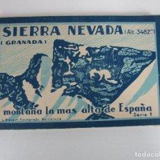 Postales: ÁLBUM POSTAL - SIERRA NEVADA (GRANADA) SERIE 1ª - 20 POSTALES - FOTÓGRAFO L. ROISIN, BARCELONA. Lote 194749923
