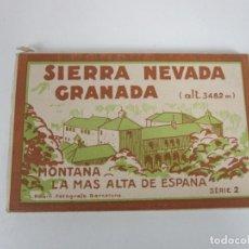 Postales: ÁLBUM POSTAL - SIERRA NEVADA (GRANADA) SERIE 2º - 20 POSTALES - FOTÓGRAFO L. ROISIN, BARCELONA. Lote 194750017