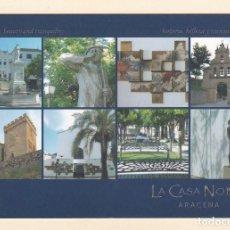 Postales: POSTAL PUBLICITARIA LA CASA NOBLE - DISTINTAS VISTAS DE ARACENA. HUELVA. Lote 194871566