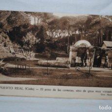 Postales: PUERTO REAL, CADIZ , POZO DE LAS CANTERAS .. Lote 194884756