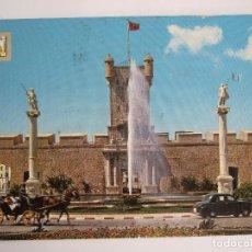 Postales: POSTAL CADIZ - PUERTA DE TIERRA - 1964 - SUBIRATS CASANOVAS 1140 - ESCRITA SIN CIRCULAR. Lote 194932332
