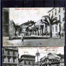 Postales: DOS POSTALES DE MALAGA-ESCRTRAS POR EL REVERSO .. Lote 194990791