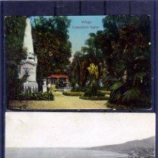 Postales: DOS POSTALES DE MALAGA-PRIMERA SIN CIRCULAR SEGUNDA CIRCUALADA Y FRANQUEADA .. Lote 194990975