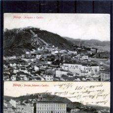 Postales: DOS POSTALES DE MALAGA-LAS DOS CIRCULADAS Y FRANQUEADAS .. Lote 194993130