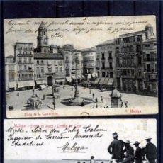Postales: DOS POSTALES DE MALAGA-ESCRITAS SIN FRANQUEO-UNA DIRIGIDA AL INGENIERO DE FERROCARRILES ANDALUCECE .. Lote 194993980