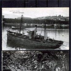Postales: DOS POSTALES DE MALAGA ANTIGUAS-EDICIÓN JOSR FERRER ESCOBAR-NUEVAS SIN CIRCUALAR .. Lote 195027195