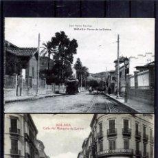 Postales: DOS POSTALES DE MALAGA ANTIGUAS-EDICIÓN JOSE FERRER ESCOBAR-NUEVAS SIN CIRCUALAR .. Lote 195028372