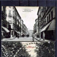 Postales: DOS POSTALES DE MALAGA ANTIGUAS-EDICIÓN JOSE FERRER ESCOBAR-NUEVA Y OTRA FRANQUEADA .. Lote 195029130