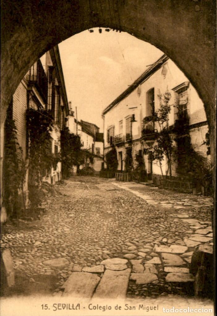 SEVILLA - COLEGIO DE SAN MIGUEL (Postales - España - Andalucía Antigua (hasta 1939))