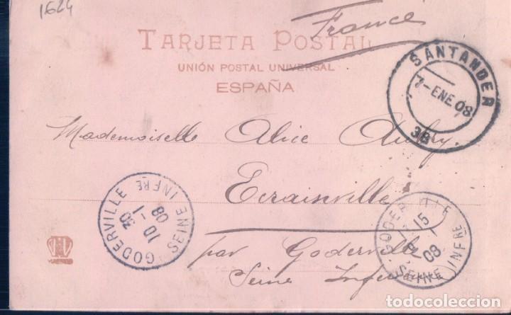 Postales: POSTAL 1547 HAUSER Y MENET SEVILLA - PLAZA DE GAVIDIA - CIRCULADA SELLO ALFONSO XIII - SIN DIVIDIR - Foto 2 - 195272723